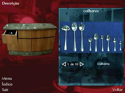 """Interface do ambiente """"Aparador"""" – Atendimento no Restaurante"""