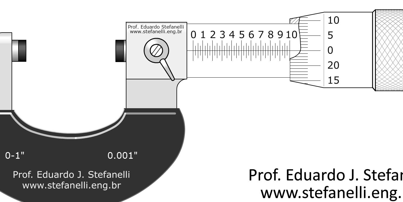 Micrômetro polegada - Micrometer inch - Micrómetro pulgadas
