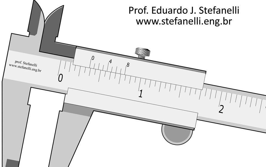 "Nônio Polegada Fracionária - Vernier Scale in fractional inch; Fracciones de pulgadas - 1/128"""