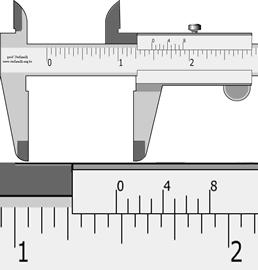 """paquimetro medindo polegada fracionária 1.61/128"""""""