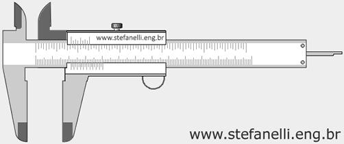 Paquímetro Universal com Nônio ou Vernier