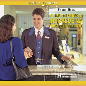 Capa do CD-ROM: Front Desk – Como Atender o Hóspede na Recepção do Hotel