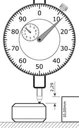 Relógio comparador em milímetro centesimal