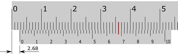 how to read the vernier caliper of fifty divisions