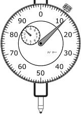 Relógio comparador em polegada milesimal