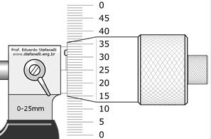 Micrômetro com graduação do tambor retificada