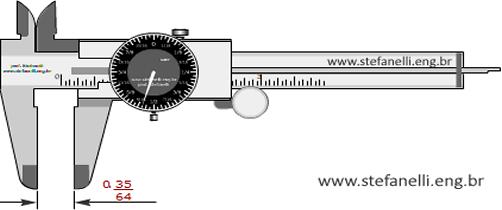 paquímetro com relógio