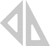 Par de Esquadros - Triangle - Juego de Escuadras