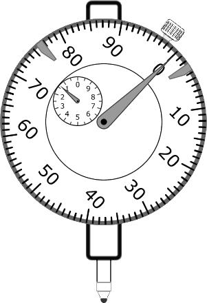 Zerando o mostrador do relógio comparador
