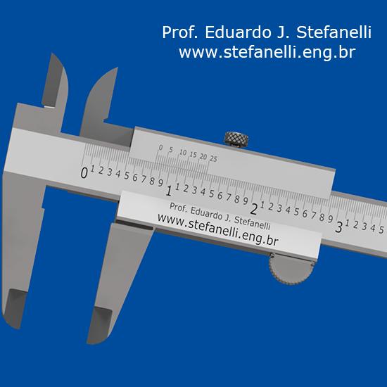 Paquímetro Universal em polegada milesimal; Vernier Caliper inch - Calibre Vernier en pulgada