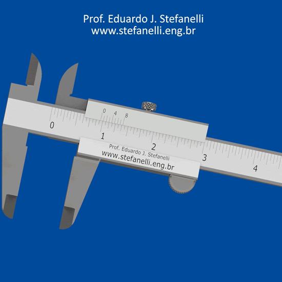 Paquímetro Universal Nônio ou Vernier em Polegada Fracionária - Vernier Caliper - Calibre